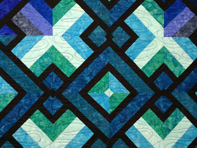Ann Mathew's Blue-Purple Quilt