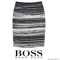 Queen Letizia Style HUGO BOSS Skirt and HUGO BOSS Blouse and PRADA Pumps