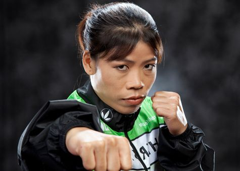 photos of gold medal winning mc mary kom featherweight woman boxer from manipur india