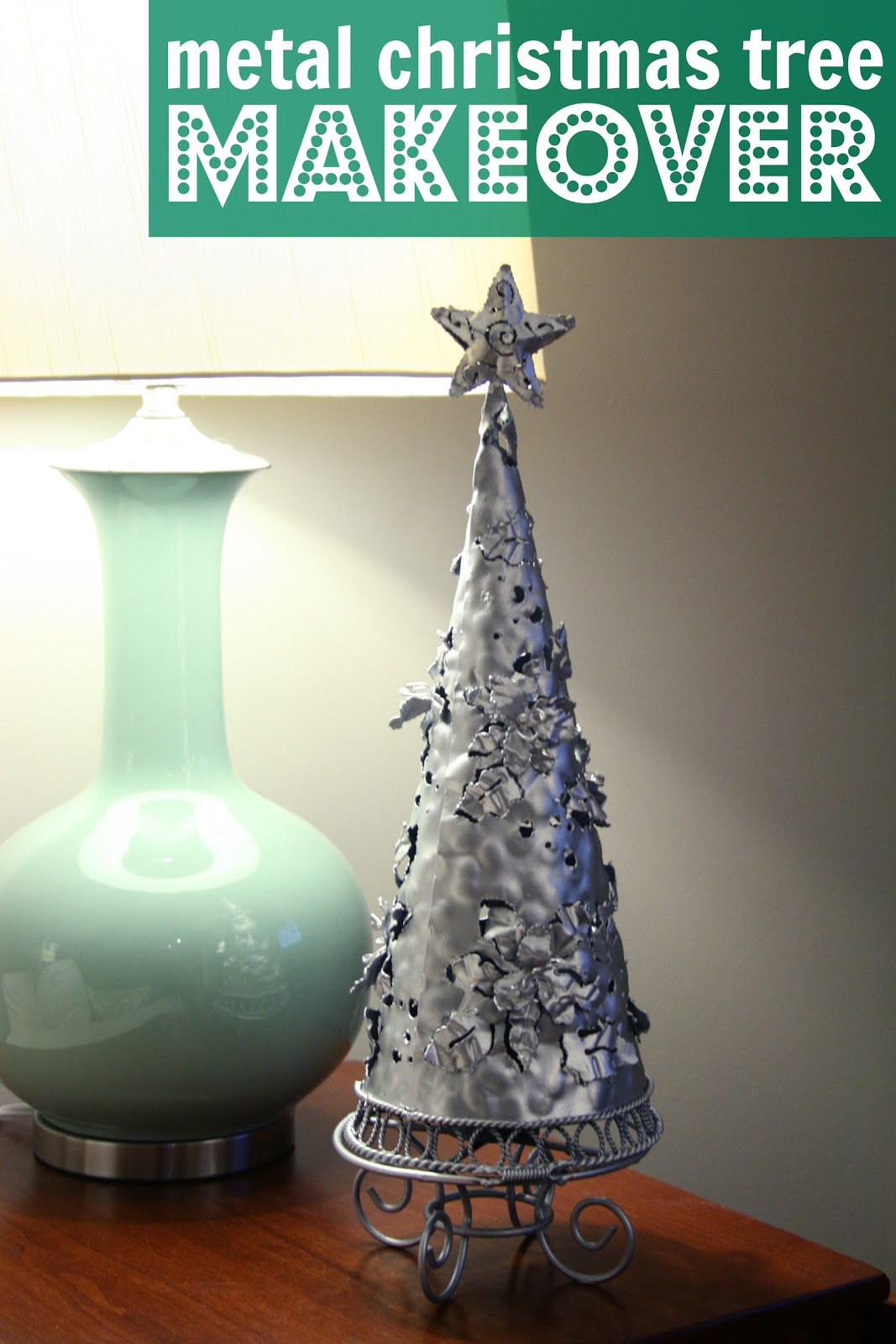 Metal christmas tree makeover
