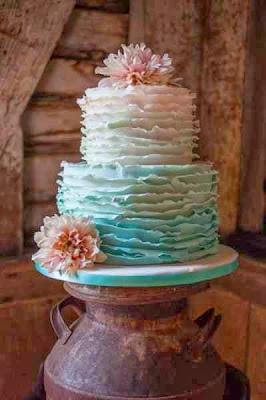красива къдрева торта