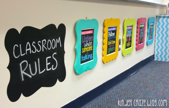 framed classroom rules look like a work of art