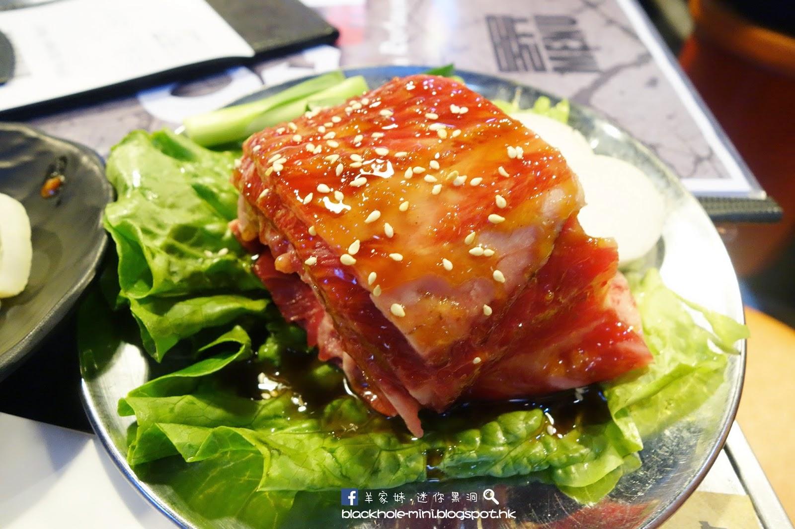 特色斜放燒肉板:OPPA韓國燒肉店