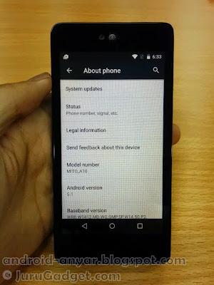 Mito Impact A10 benar-benar terbukti Android 5.1 Lollipop Terbaru