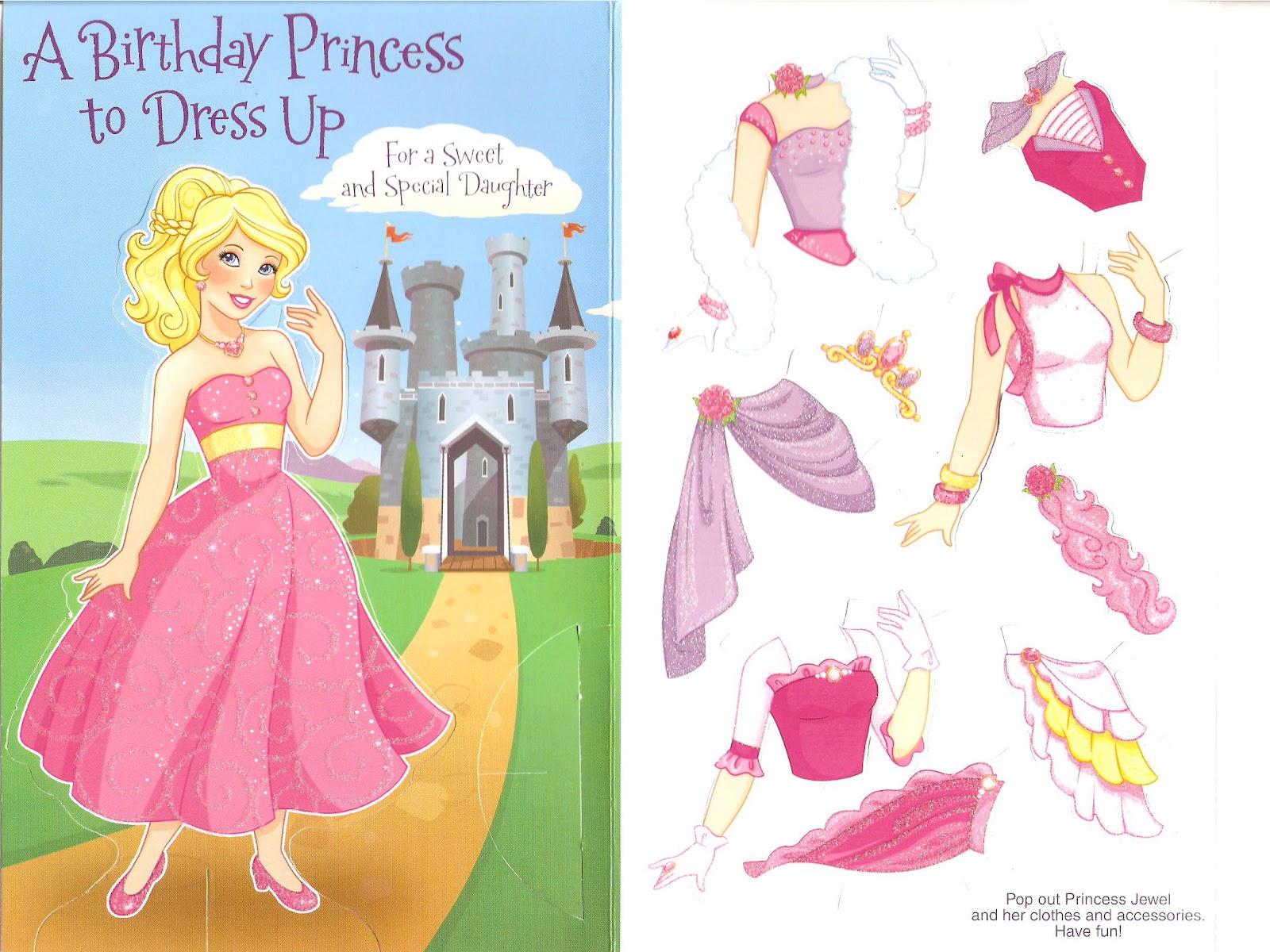 Miss Missy Paper Dolls Princess Card Paper Doll Princess Paper