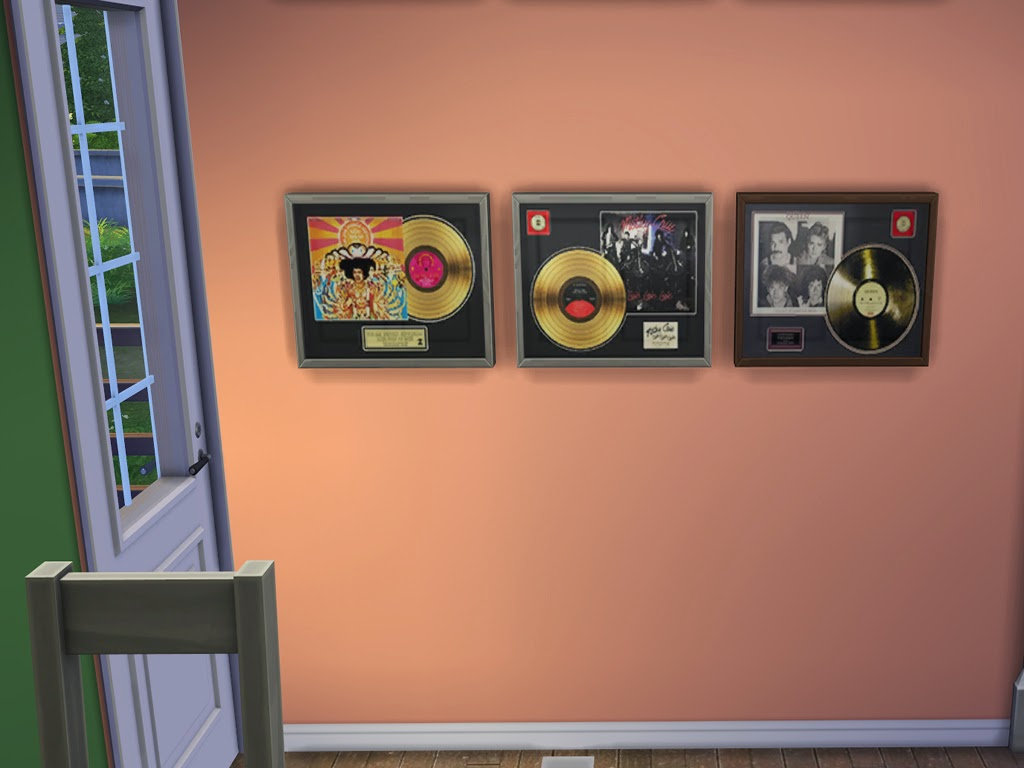 My Sims 4 Blog: Framed Gold Records by Munterbaconsims