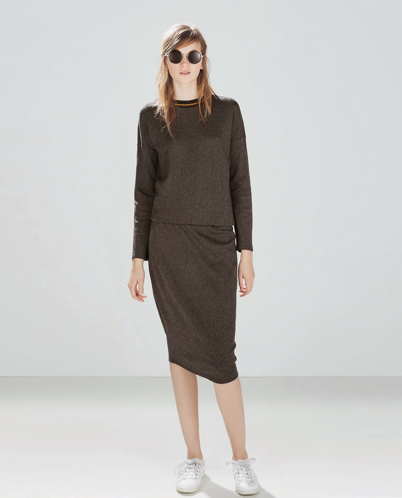 zara jumper dress