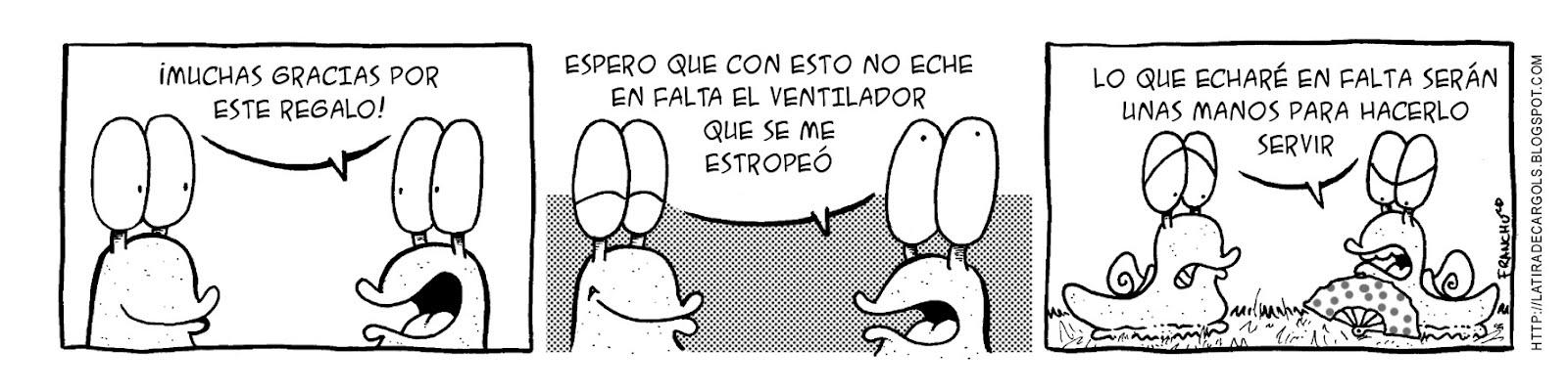 Tira comica 135 del webcomic Cargols del dibujante Franchu de Barcelona