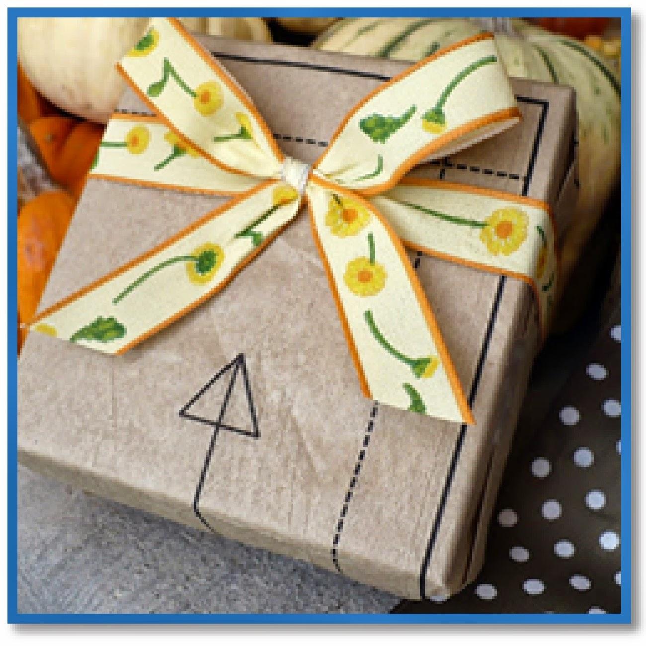 sewing pattern gift wrap