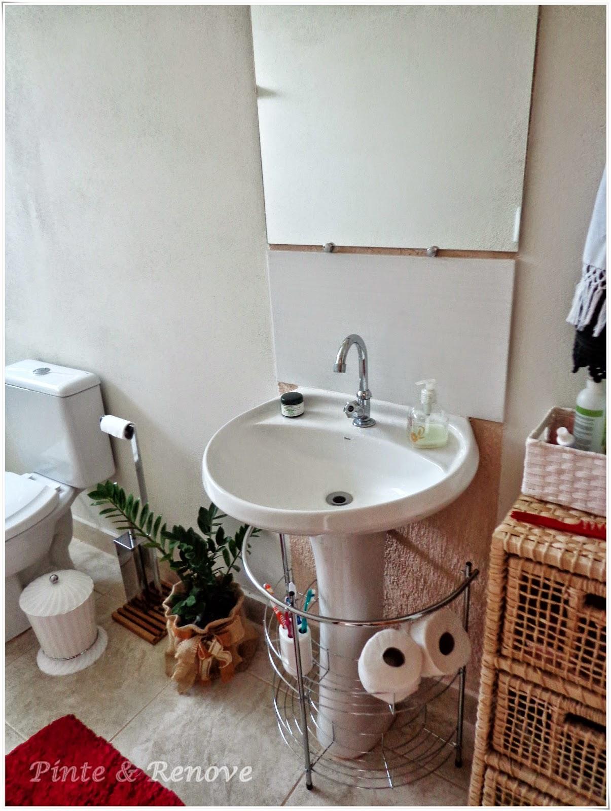 Imagens de #6E372B Banheiros pequenos: dicas e inspirações Pinte e Renove 1205x1600 px 3626 Banheiros Simples Rusticos