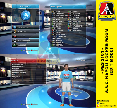 PES 2014 S.S.C. NAPOLI LOCKER ROOM