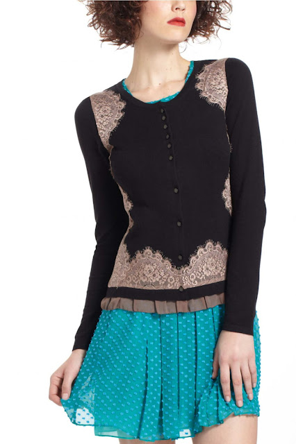 lace trimmed cardigan