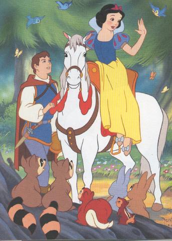 Il cavallo di biancaneve e i sette nani - Immagine del mouse a colori ...