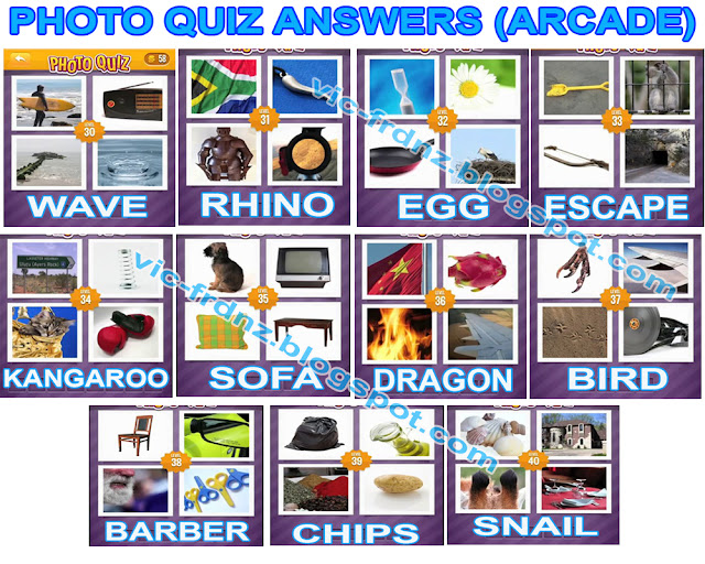 Photo Quiz Answers Arcade