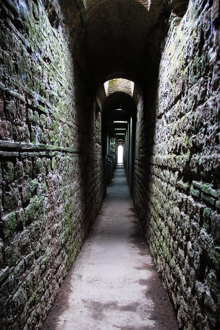 Trier ruins of three Roman baths