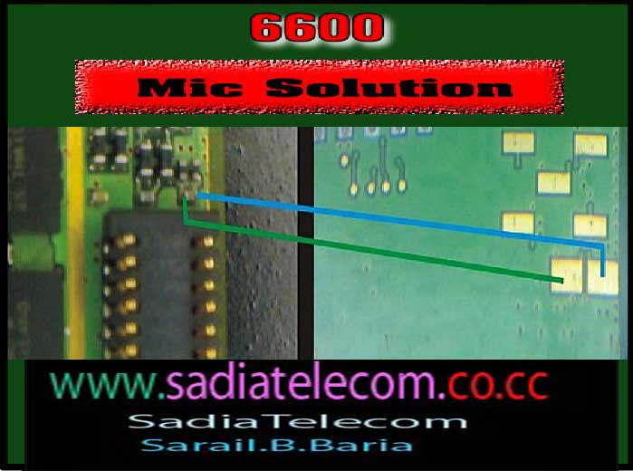 7210c mic solution. 6600 Nokia mic solution
