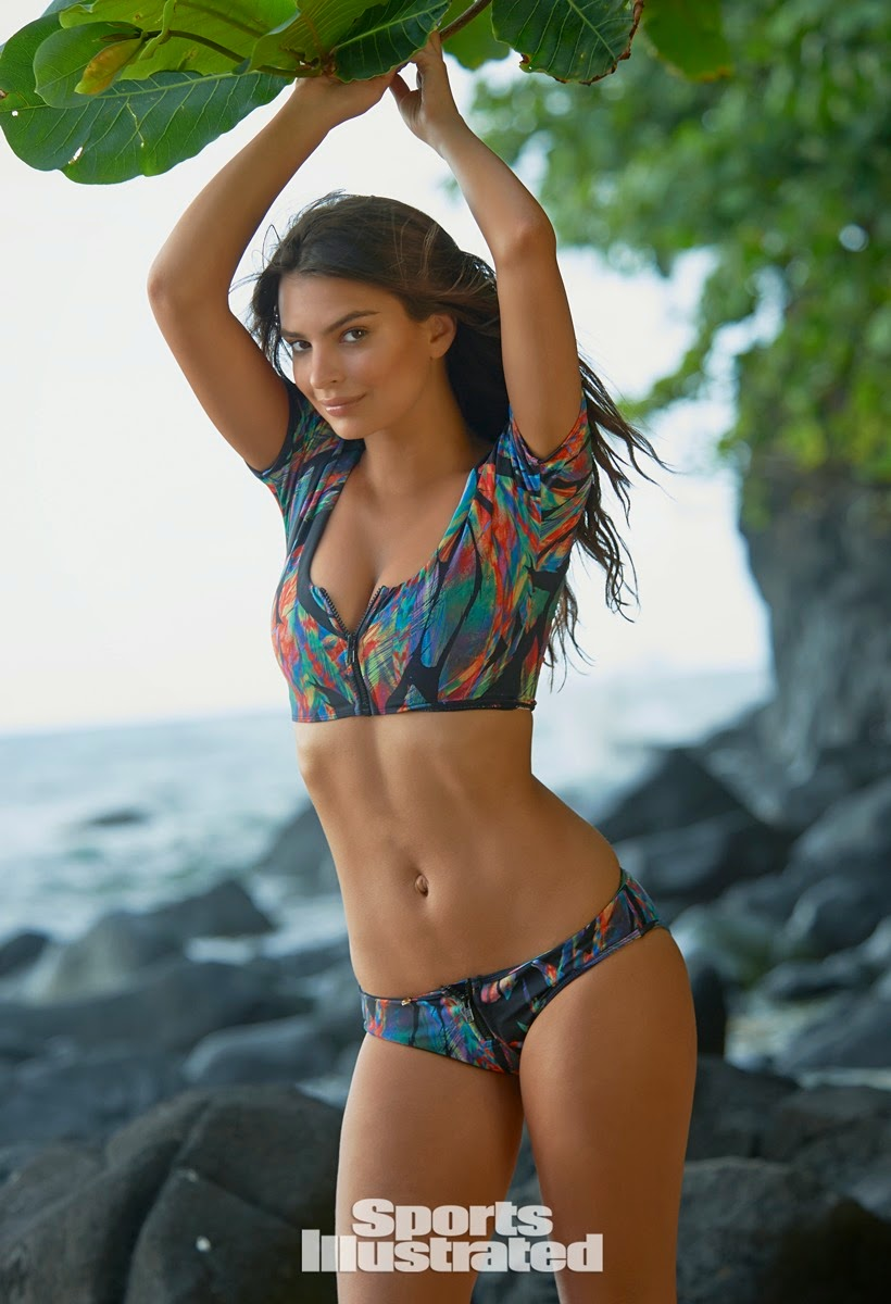 Emily Ratajkowski is seductive for the Sports Illustrated Swim 2015 photoshoot