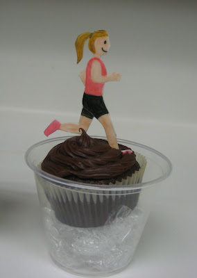 Triathlon Themed Teacher Appreciation Cupcakes - Running Cupcake