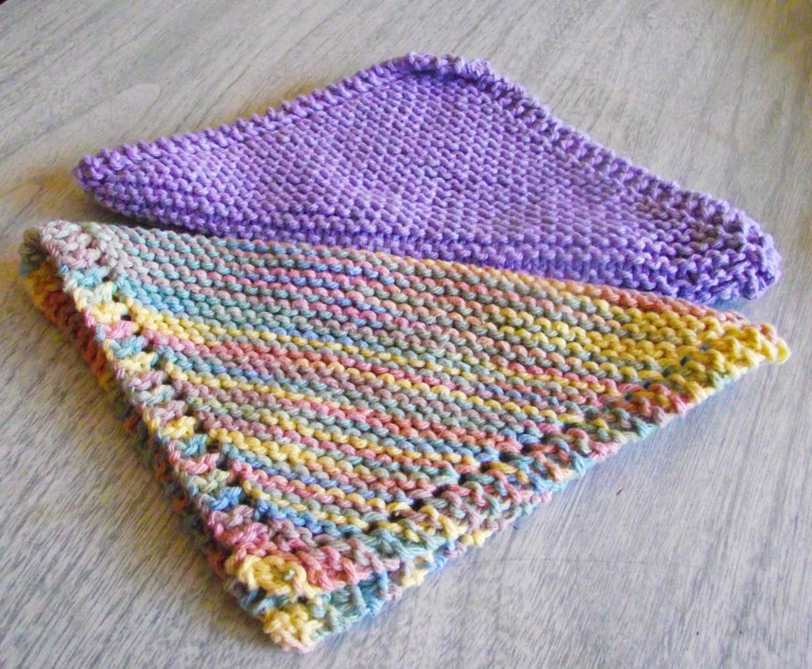 M Dishcloth Knitting Pattern : Sara vs. Sarah: Knitted Dishcloth with Pattern/Tutorial