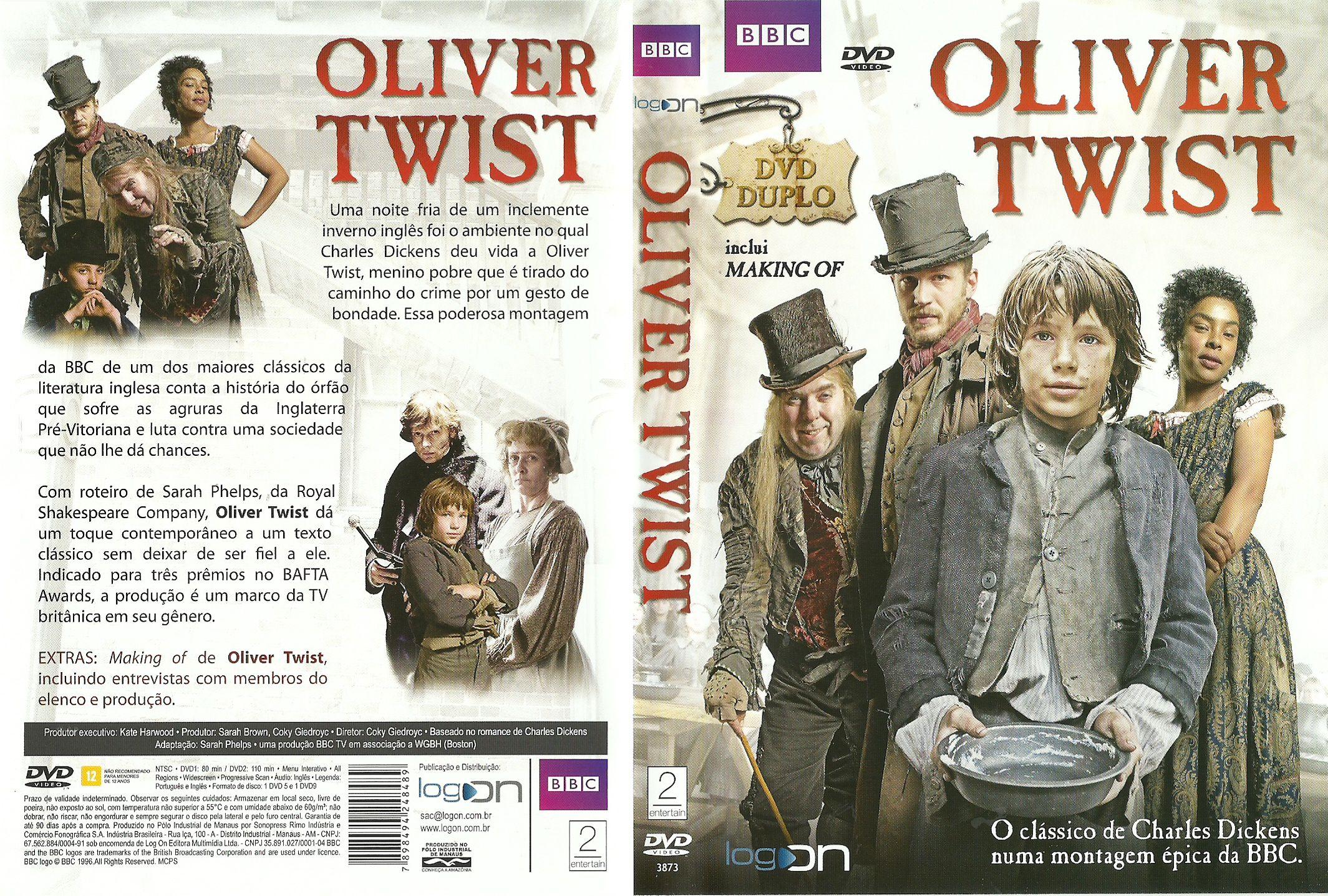 Capa DVD Oliver Twist