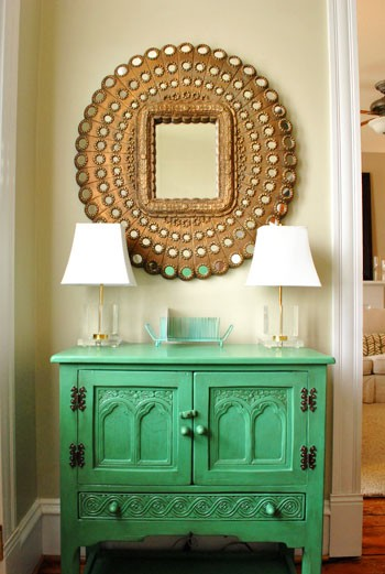 Gold Foyer Mirror : Lifestyle in home decor ideas with mirror