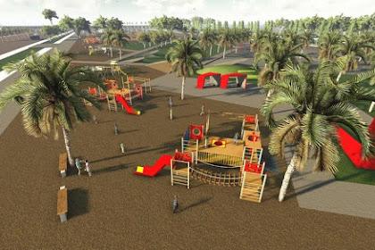 Jasa desain playground dengan tema taman, peternakan, tema laut, taman terbuka