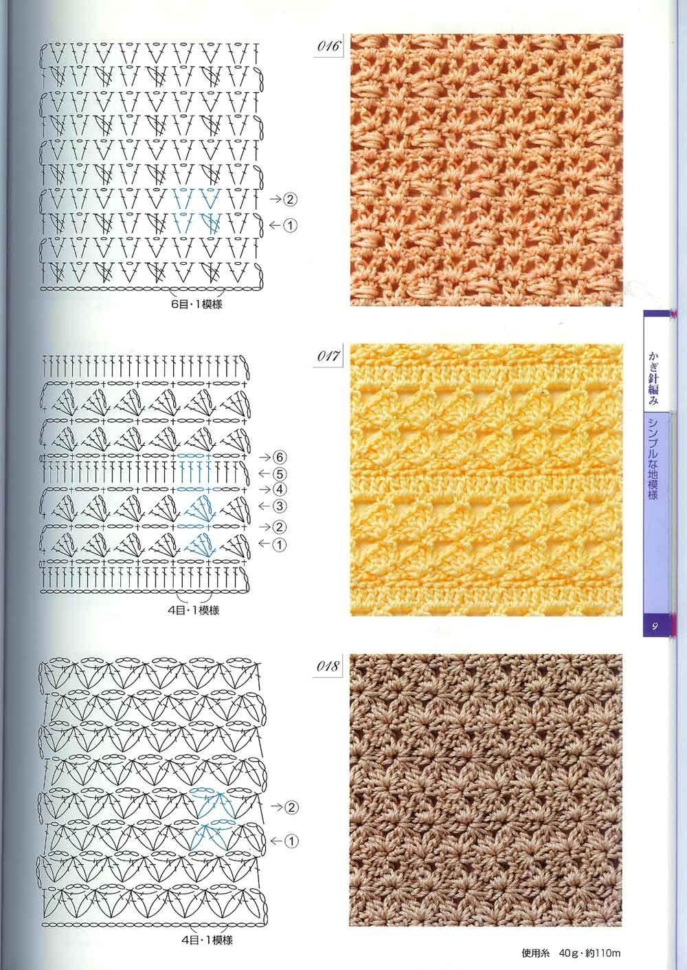 patrones y tejidos gratis : puntos crochet
