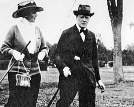 Churchill golfing
