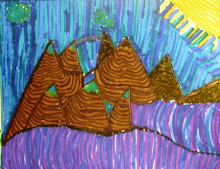 Grandchild Art ... Sunshine Mountains