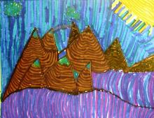 Grandchild Art ... Sunshine Mountains