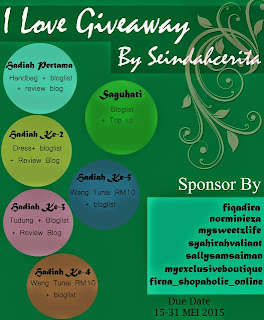 I Love Giveaway Seindahcerita By Nieyl