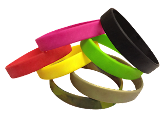 silicone wristbands for a cause