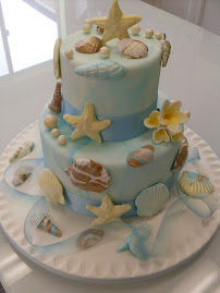 Sea shell cake.