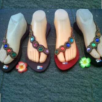 sandal bali flat silang