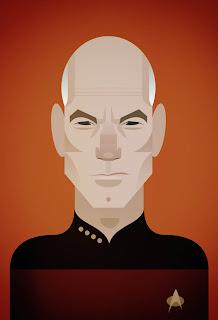 Captain Jon Luke Picard in Star Trek -  Patrick Stewart