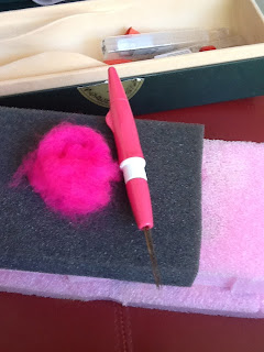 wool roving for felted bird
