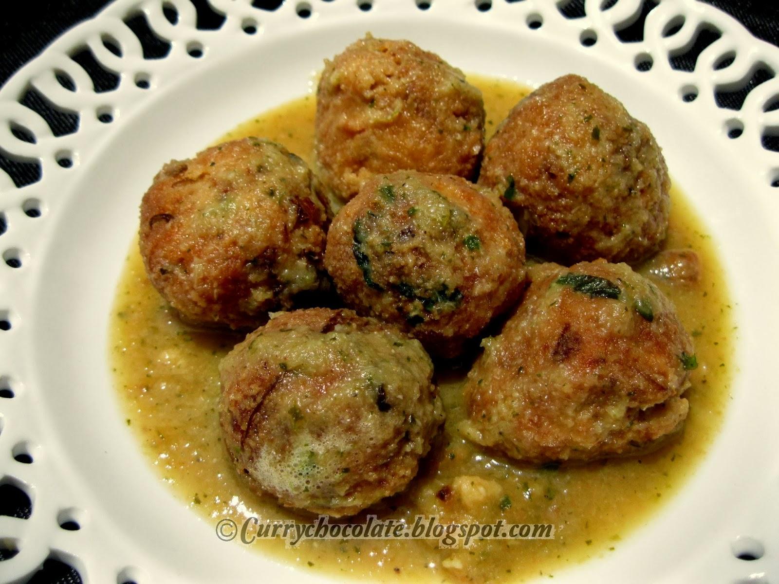 Curry y chocolate alb ndigas de verdura con queso for Albondigas de verduras