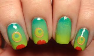 Caterpillar Nail Art