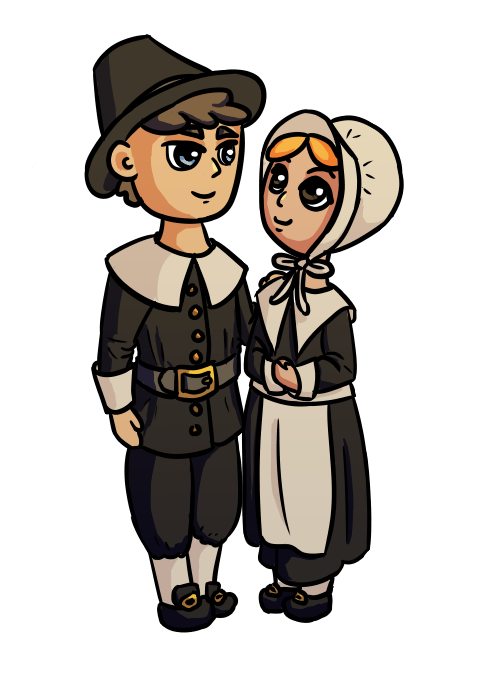 Pilgrim Couple by Gaia Robinette