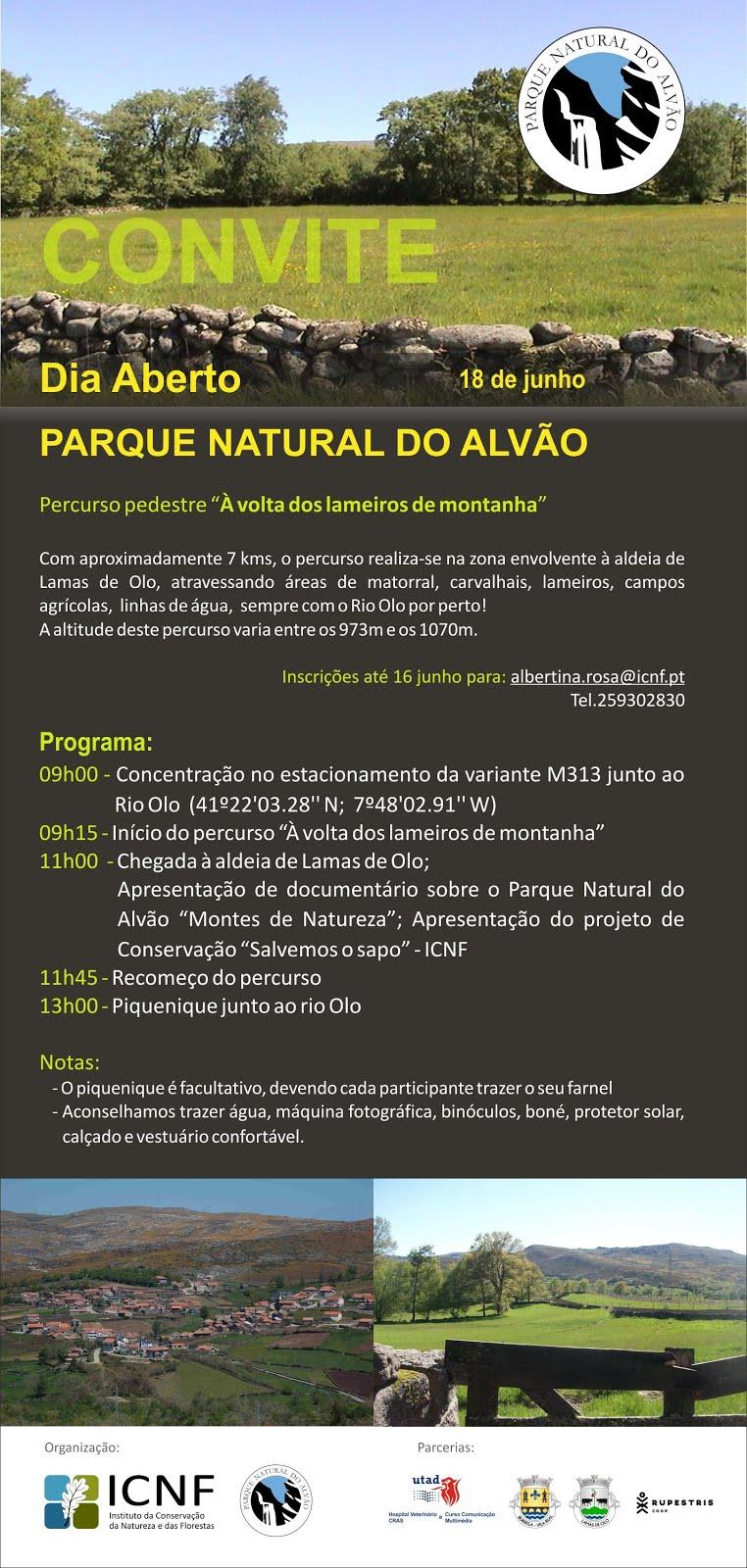 Dia Aberto Parque Natural Alvão