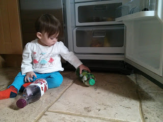 playing in the fridge