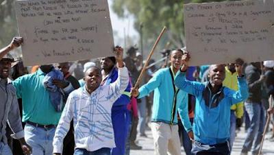 la proxima guerra disturbios minas de oro sudafrica