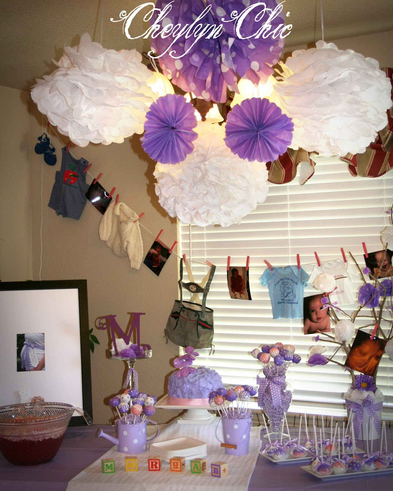 cheylyn chic loving lavender baby shower