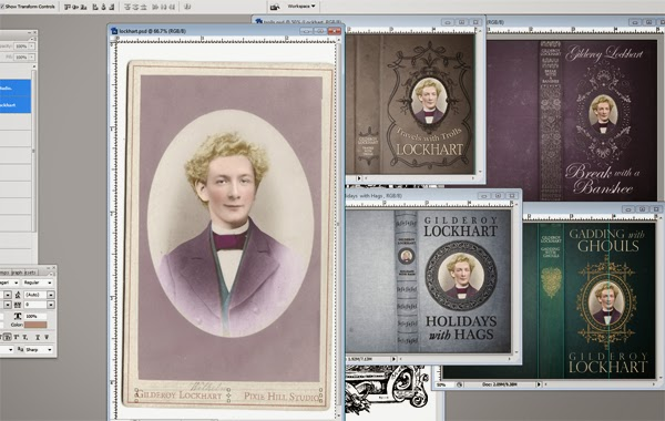Gilderoy Lockhart covers in progress - Nichola Battilana