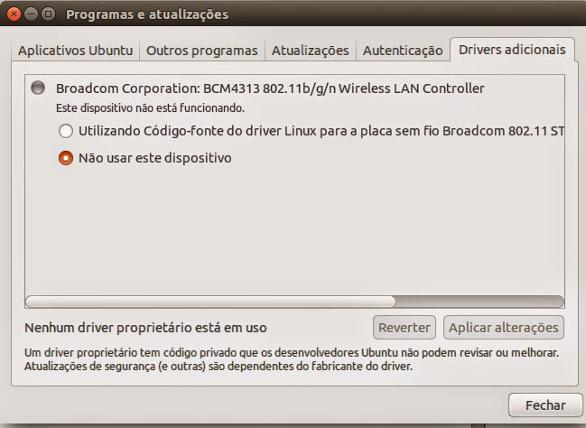 Instalação de Drivers Proprietários no Ubuntu