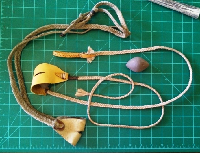 how to make a leather rock sling