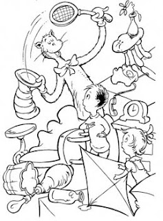 kids coloring pages, dr.seuss coloring pages