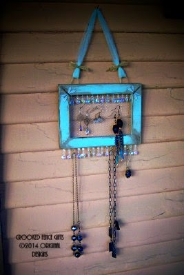 Aqua Jewelry Display Organizer