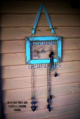 Aqua Jewelry Display Organizer