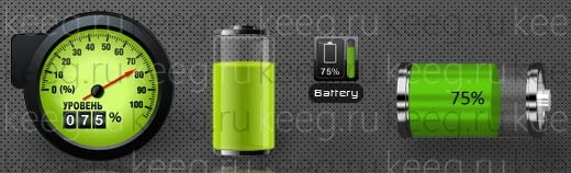 Stylish Battery Indicator Widgets Pack